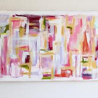 Art/Wall Decor - Gold & Wine - an original painting by Jen Ramos at Cocoa & Hearts - abstract, art