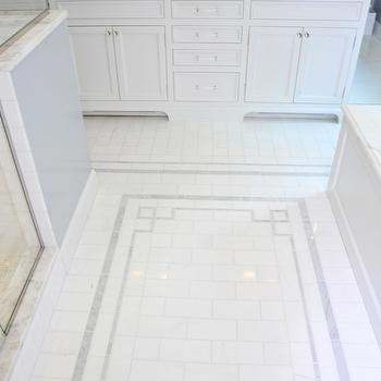 Greek Key Tiles, Transitional, bathroom, Muse Interiors