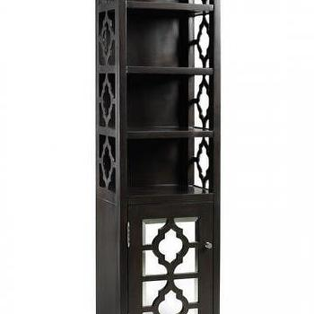 Bath - Reflections 67.5 - black, mirrored, quatrefoil, bathroom, cabinet