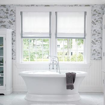 Grsograin Roman Shades, Transitional, bathroom, Muse Interiors