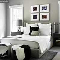 Room & Board Design Team - Modern bedroom design with gray walls paint color, ...