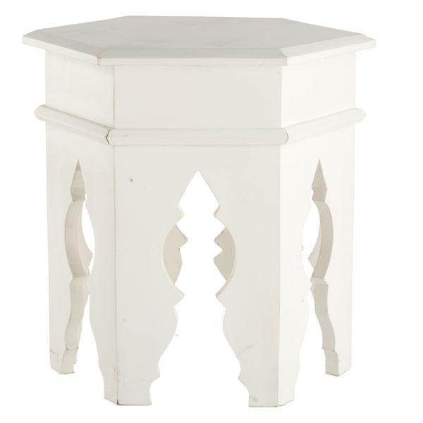 Tables - Moroccan Stool - White | Side Tables & Pedestals | Wisteria - white, Moroccan, stool