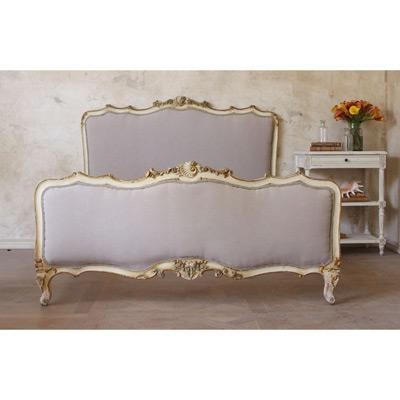 One Of A Kind Vintage Bed Cream And Gilt