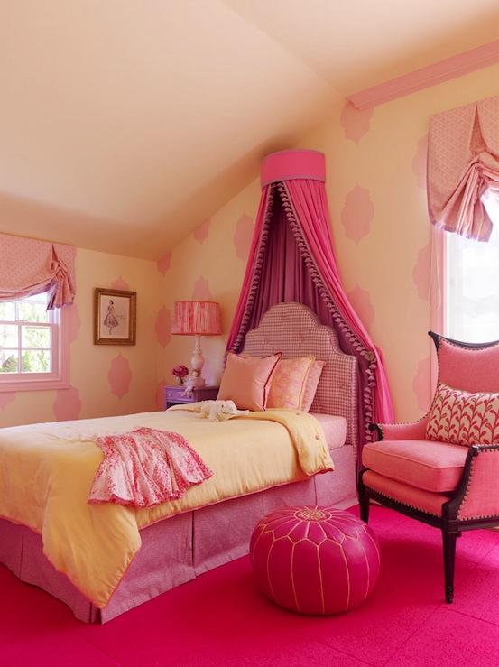 Little Girls Pink Room Transitional girls room