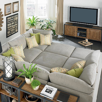 Pit Sectional, Transitional, living room, Bassett Furniture