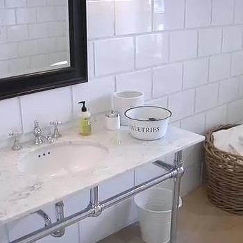 Marble Top bathroom Vanity, Transitional, bathroom, House & Home