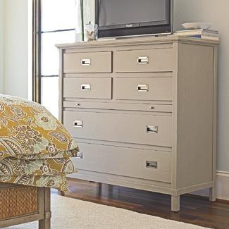 Storage Furniture - Coastal Living�?� by Stanley Furniture Resort Haven's Harbor Media Chest in Distressed Dune | Wayfair - gray, media, chest