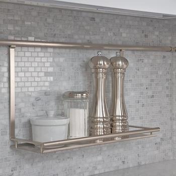 Polished Marble Backsplash, Transitional, kitchen, Artistic Designs for Living
