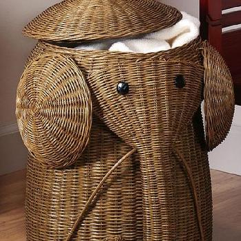 Bath - Rattan Elephant Hamper - Laundry Hampers - Bath | HomeDecorators.com - rattan, elephant, laundry, hamper