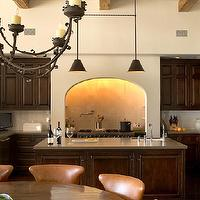 Chris Barrett Design - kitchens - range alcove, kitchen range alcove, stove alcove, kitchen stove alcove, chocolate brown cabinets, chocolate brown kitchen cabinets,