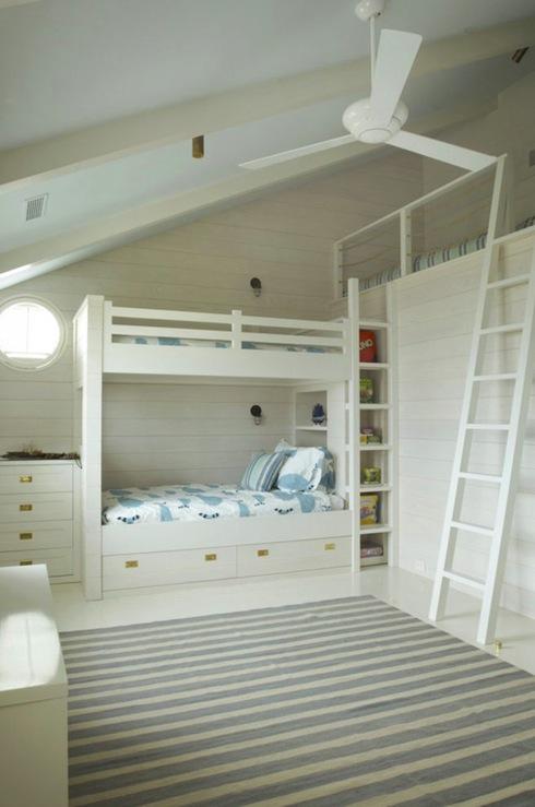 Built In Bunk Beds Cottage Boy 39 S Room Benjamin Moore