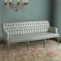 Seating - Tufted French Bench - Shades of Light - SEating