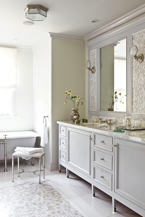 Gray Bathroom Vanity Traditional Farrow