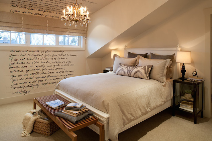 Attic Bedroom - Transitional - bedroom - Kelly Deck Design