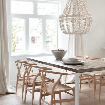 Flower Drop Chandelier, Contemporary, dining room, Kelly Deck Design