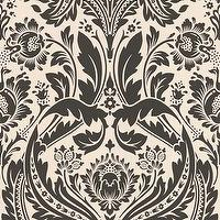 Wallpaper - 50-027 Graham & Brown Desire: Black & White Wallpaper Black,white Damask Wallpaper - black, white, damask, wallpaper