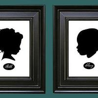 Art/Wall Decor - Two Custom Silhouette Fine Art Prints 5x7 by jenniferalexisdesign - custom, silhouette, print