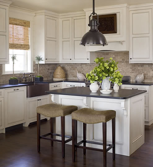 Glazed Kitchen cabinets - Cottage - kitchen - Phoebe Howard
