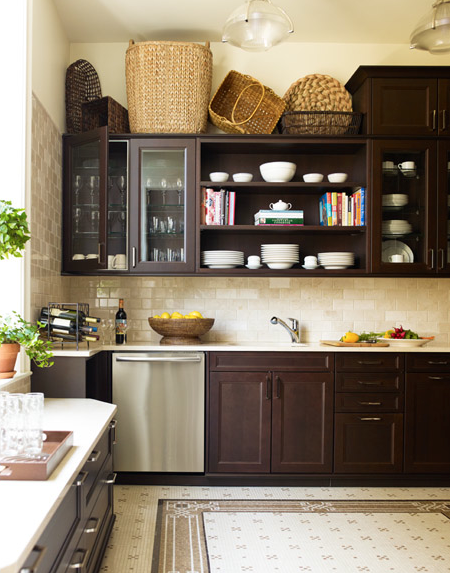 Chocolate brown cabinets contemporary kitchen - Kitchen with brown cabinets ...