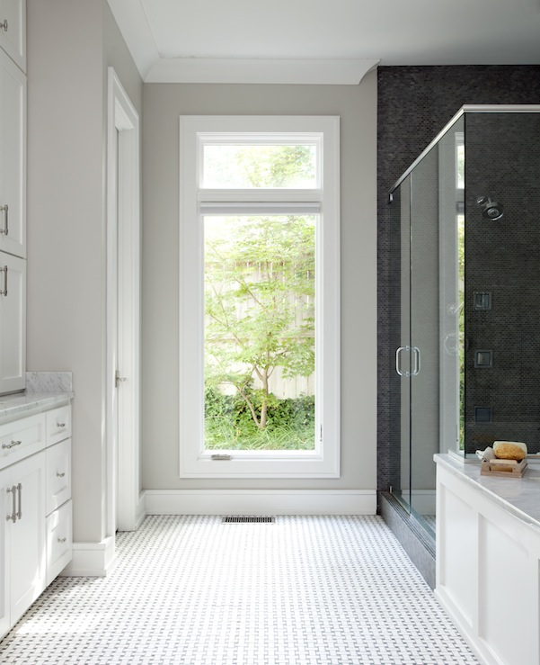Greige Paint - Contemporary - bathroom - Sherwin Williams Repose ...