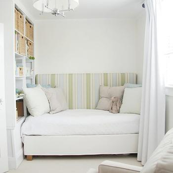 Nursery Daybed, Transitional, nursery, Benjamin Moore Cloud White, Aubrey & Lindsay