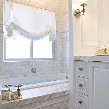 White Bathroom Vanity With Marble Top Calcutta Marble