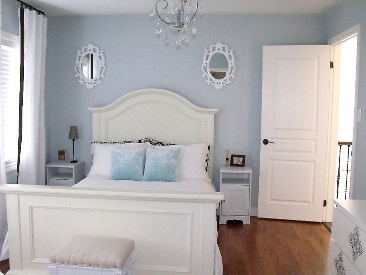 grey blue bedroom. Bedroom Behr Light French Grey  Blue Painted Rooms Home