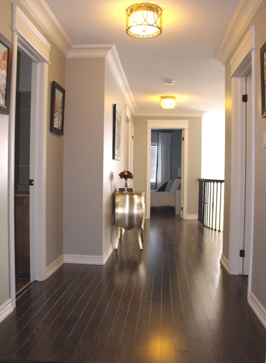Red Oak Floor Transitional Entrance Foyer Benjamin