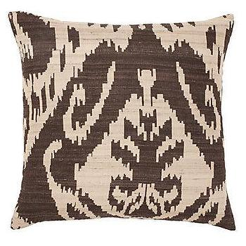 Pillows - Z Gallerie - Avani Pillow 20 - chocolate, ikat, avani, pillow