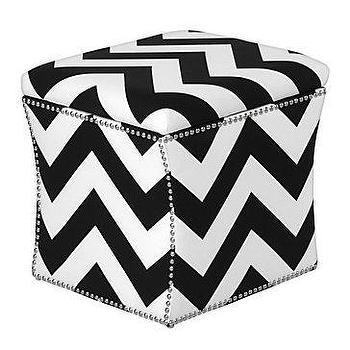Seating - Z Gallerie - Storage Ottoman - zigzag, chevron, storage, ottoman