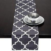 Decor/Accessories - Z Gallerie - Mimosa Runner - Charcoal - moorish tiles, charcoal, mimosa, table runner