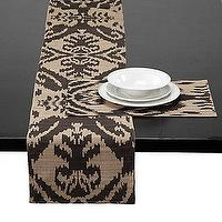 Decor/Accessories - Z Gallerie - Avani Runner &amp; Placemats - Chocolate - ikat, avani, table runner