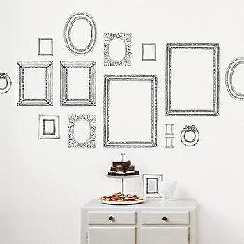 Art/Wall Decor - Z Gallerie - Black Frame Wall Decal - black, frames, wall decor