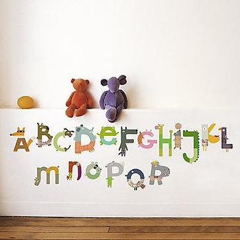 Art/Wall Decor - Z Gallerie - Animal Alphabet Wall Decal - animal, alphabet, wall decor