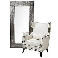 Mirrors - Z Gallerie - Timber Mirror - Leaner - timber, floor mirror
