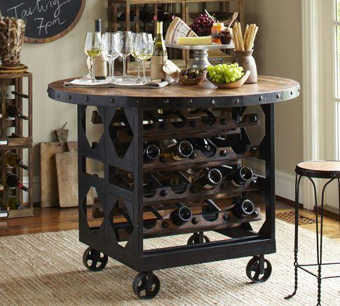 trieste wine storage table pottery barn. Black Bedroom Furniture Sets. Home Design Ideas