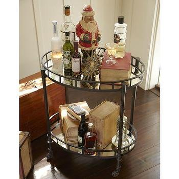 Storage Furniture - Caprice Metal Bar Cart | Pottery Barn - caprice, metal, bar, cart