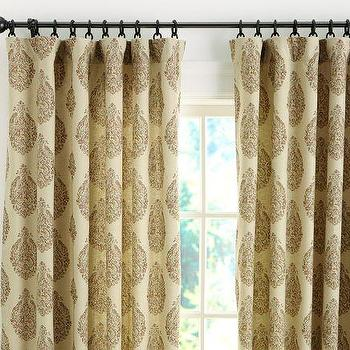 Window Treatments - Peacock Bhotah Poletop Drape | Pottery Barn - peacock, bhotan, poletop, drapes