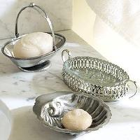 Bath - Eclectic Antique Soap Dishes | Pottery Barn - eclectic, antique, soap, dishes