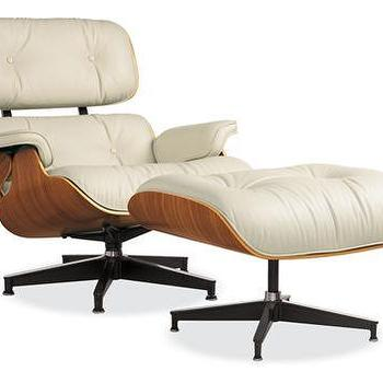 Eames� Leather Lounge Chair and Ottoman, Chairs, Living, Room & Board