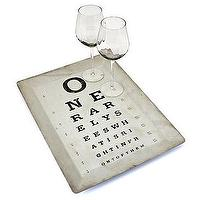 Decor/Accessories - Z Gallerie - Eye Chart Tray 19 - eye chart, tray