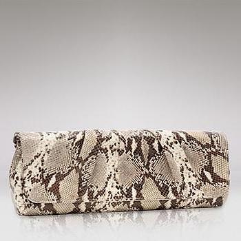 Miscellaneous - Lauren Merkin Caroline Embossed Python Clutch - Handbags - Ceremony - The Wedding Shop - LOOKBOOKS - Fashion Index - Bloomingdale's - laura merkin, python, cluth