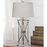 Lighting - Regina Andrew Polished Nickel Campaign Table Lamp - Regina-405-159 | Candelabra, Inc. - regina andrews, polished nickel, campaign, lamp