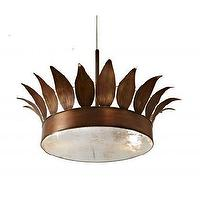 Lighting - Stray Dog Designs - Lighting - Hanging Fixtures and Sconces - Clay Crouch Crown Ceiling Fixture - clay crouch clown, lamp, chandelier