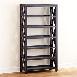Antique Black Verona Six-Shelf Bookcase, Home Office Furniture| Furniture, World Market