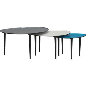 Tables - lucent nesting tables set of three in accent tables | CB2 - nesting, tables