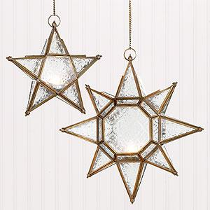 Decor/Accessories - Star Hanging Lantern Candleholders | Lighting| Home Decor | World Market - star, hanging, lantern, candleholders