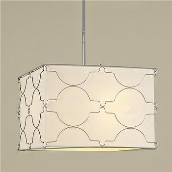 Lighting - Square Wire Lattice Geo Semi-Flush Pendant - 4 lt - Shades of Light - square, wire, lattice, pendant, chandelier
