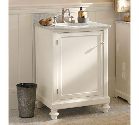 Classic Turned-Leg Single Mini Sink Console | Pottery Barn