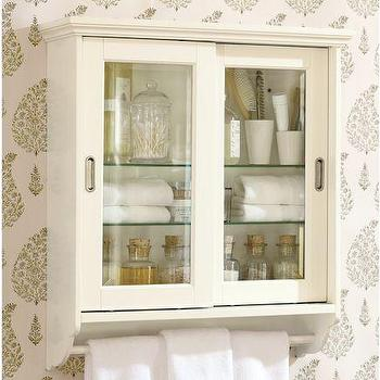 Bath - Sliding Door Wall Cabinet | Pottery Barn - sliding, door, wall, cabinet
